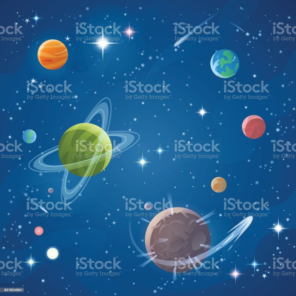 Space vector art illustration
