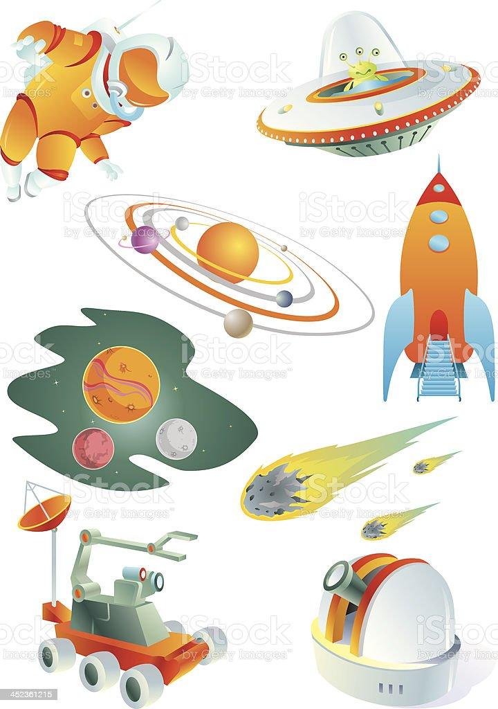 Space Voyage vector art illustration