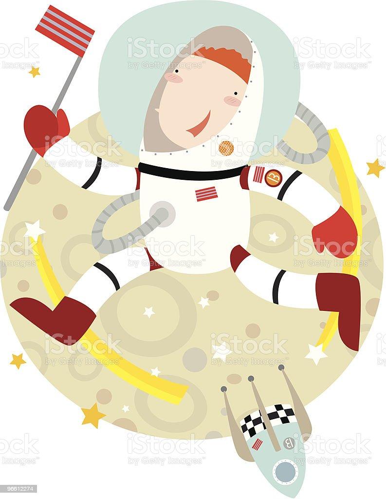 space walking - Royaltyfri Astronaut vektorgrafik