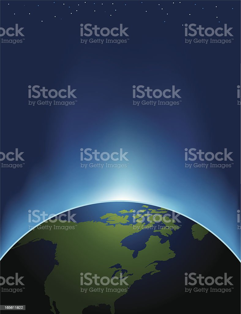 space world vector art illustration