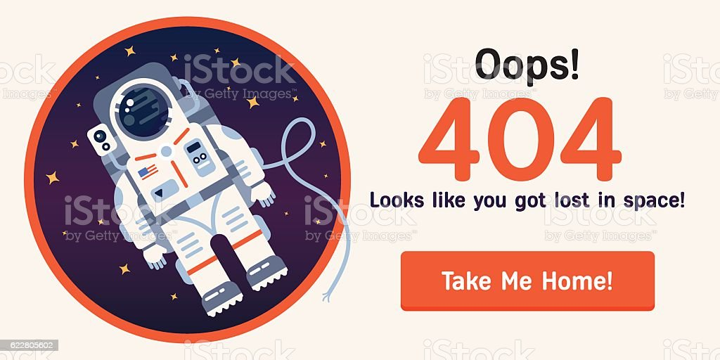 Space-404-2 copy vector art illustration
