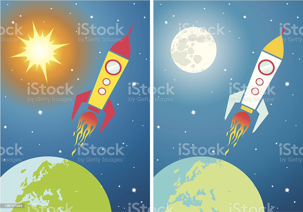 Spacecraft in space royalty-free spacecraft in space stock vector art & more images of alien