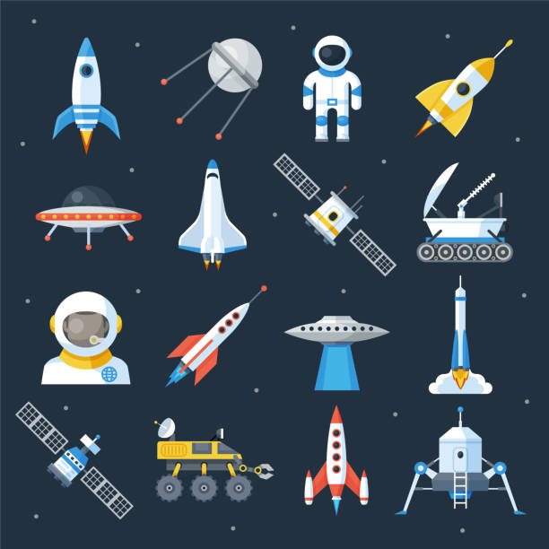 spacecraft shuttle exploration - space exploration stock illustrations, clip art, cartoons, & icons