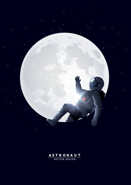 宇航員宇航員在月球上放鬆 - 月亮 幅插畫檔、美工圖案、卡通及圖標