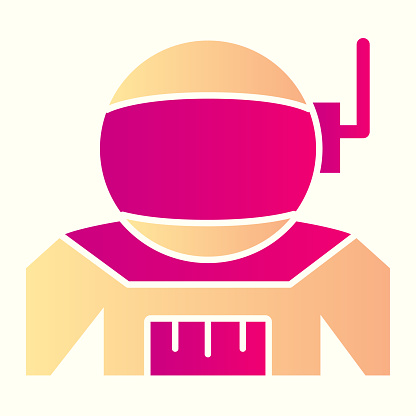 Spaceman costume line icon. Cosmonaut uniform cloth with antenna. Astronomy vector design concept, outline style pictogram on white background, use for web and app. Eps 10.