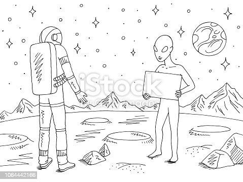 istock Caracteres de los astronautas set style.spaceman dibujado a ...