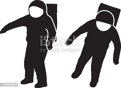 Spaceman Silhouettes