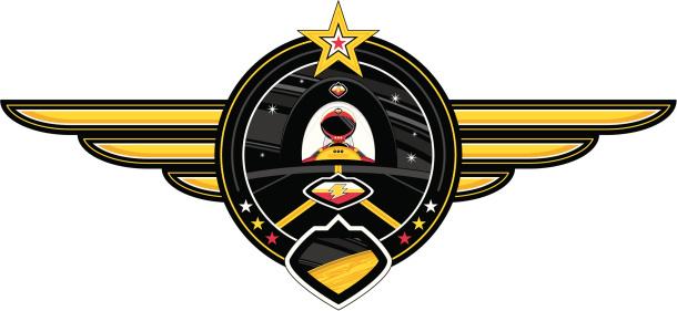 Spaceman & Spaceship Badge
