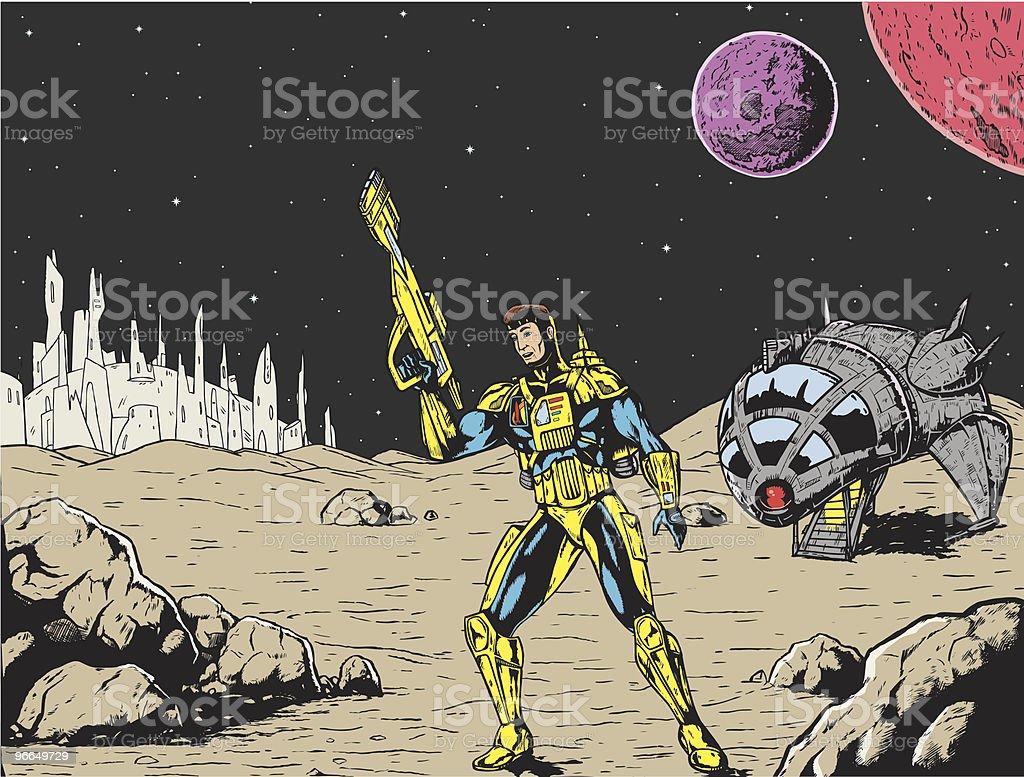 Spaceman royalty-free stock vector art