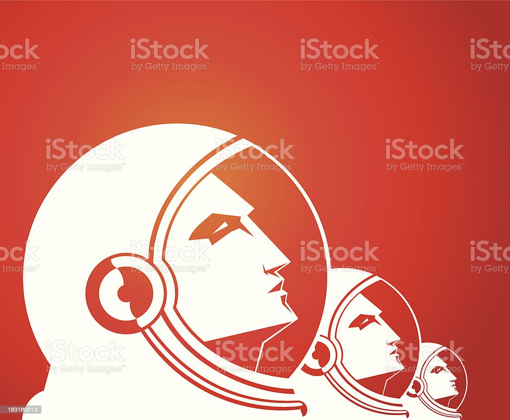 Spacemen - illustrazione arte vettoriale