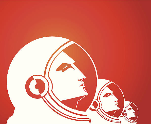 Spacemen - illustrazione arte vettoriale