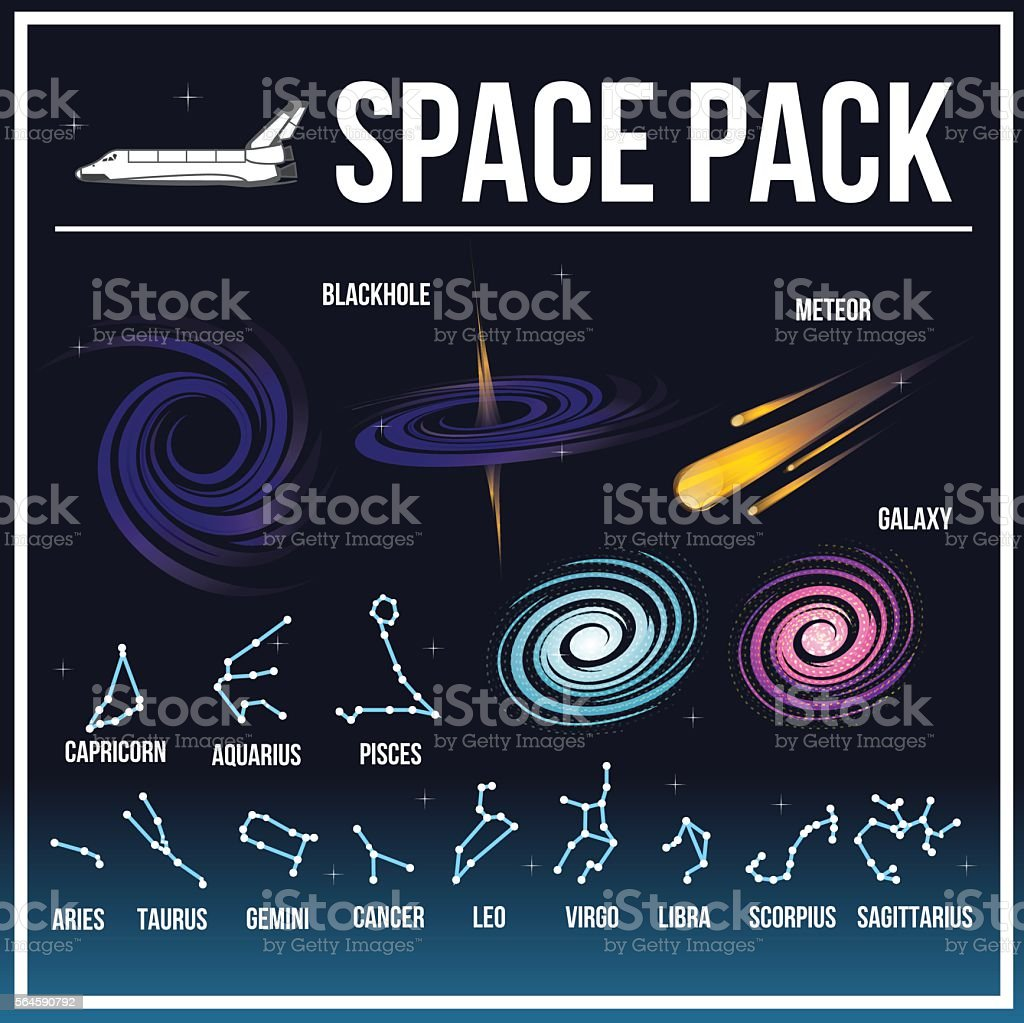 Spacepack03 vector art illustration