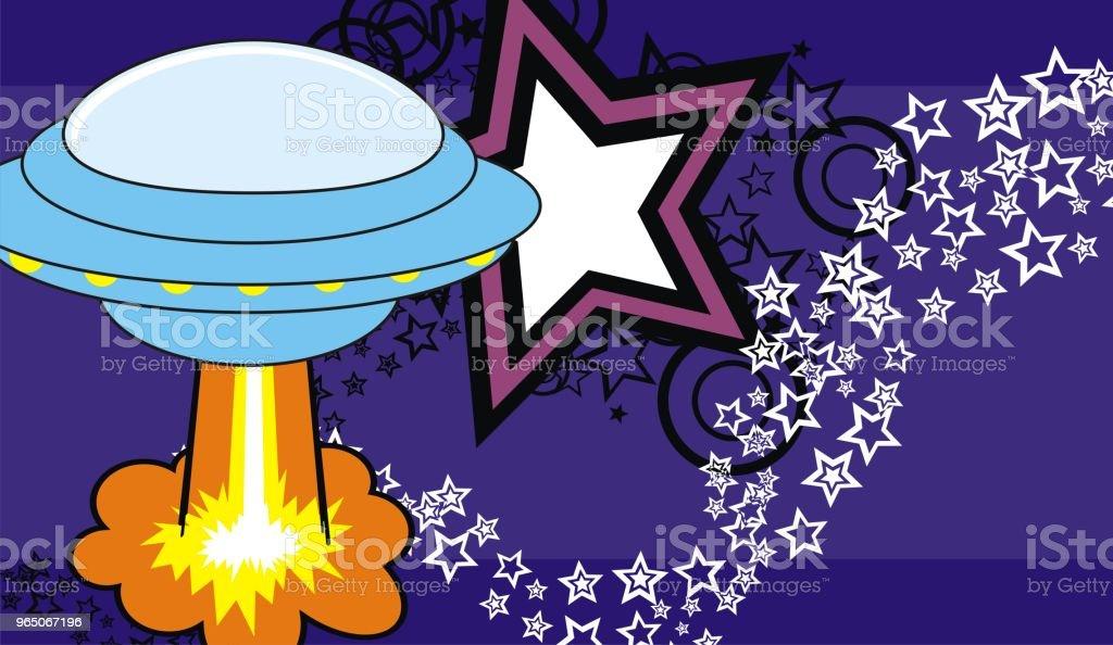 spaceship cartoon background spaceship cartoon background - stockowe grafiki wektorowe i więcej obrazów abstrakcja royalty-free