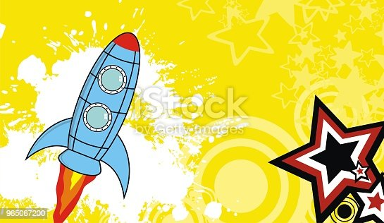Spaceship Cartoon Background5 - Stockowe grafiki wektorowe i więcej obrazów Abstrakcja 965067200