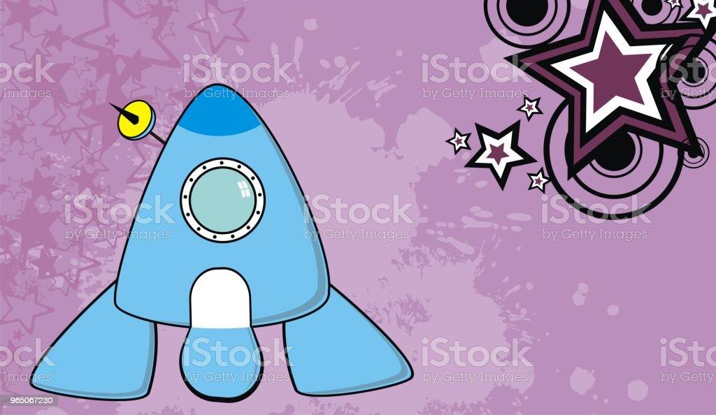 spaceship cartoon background6 spaceship cartoon background6 - stockowe grafiki wektorowe i więcej obrazów abstrakcja royalty-free