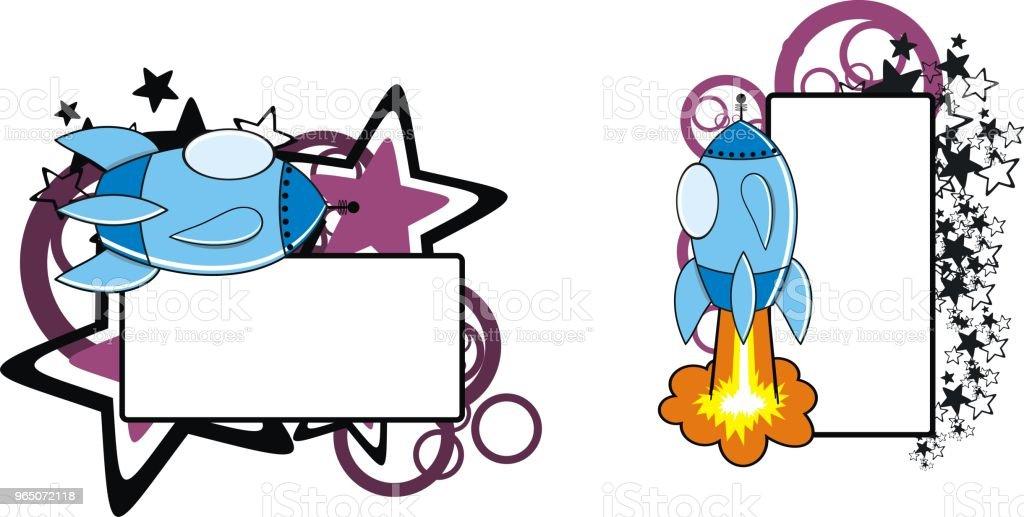spaceship cartoon copyspace set spaceship cartoon copyspace set - stockowe grafiki wektorowe i więcej obrazów abstrakcja royalty-free