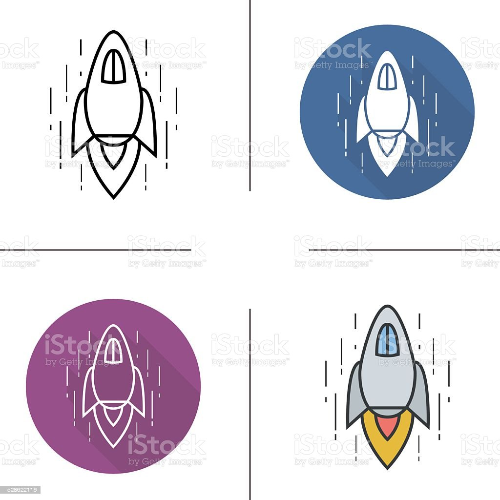 Spaceship Icons Stock Vector Art & More Images of Achievement - iStock