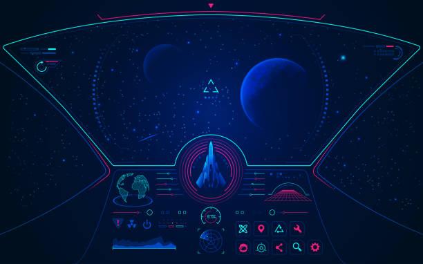 stockillustraties, clipart, cartoons en iconen met ruimteschip modus - ruimtevaart voertuig