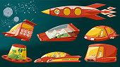 Spaceship set (vector)