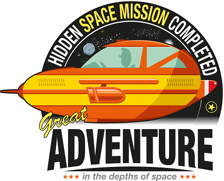 Spaceship sticker
