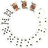 Spade Suit Two Circle of playing cards