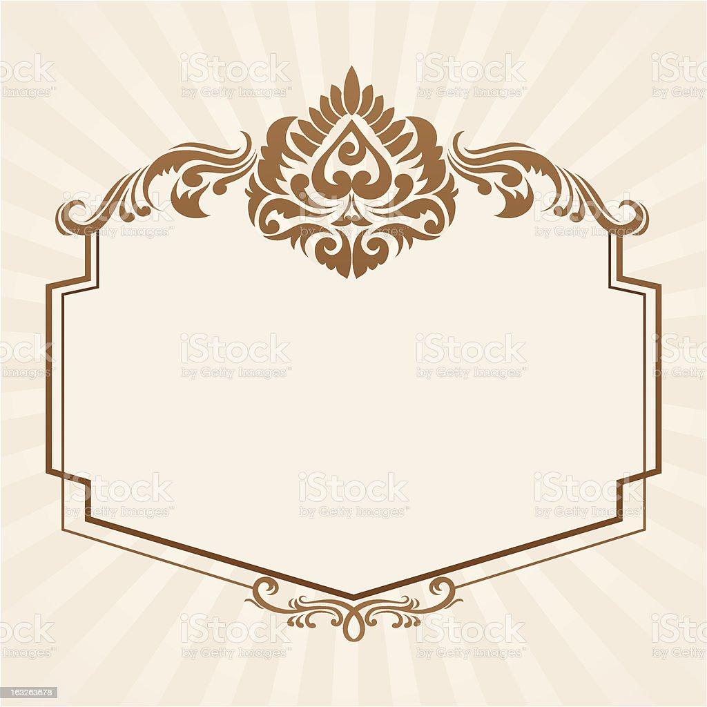 Spades Ornament Frame royalty-free stock vector art