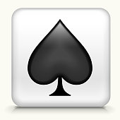 Spades Playing Cards Symbol Button