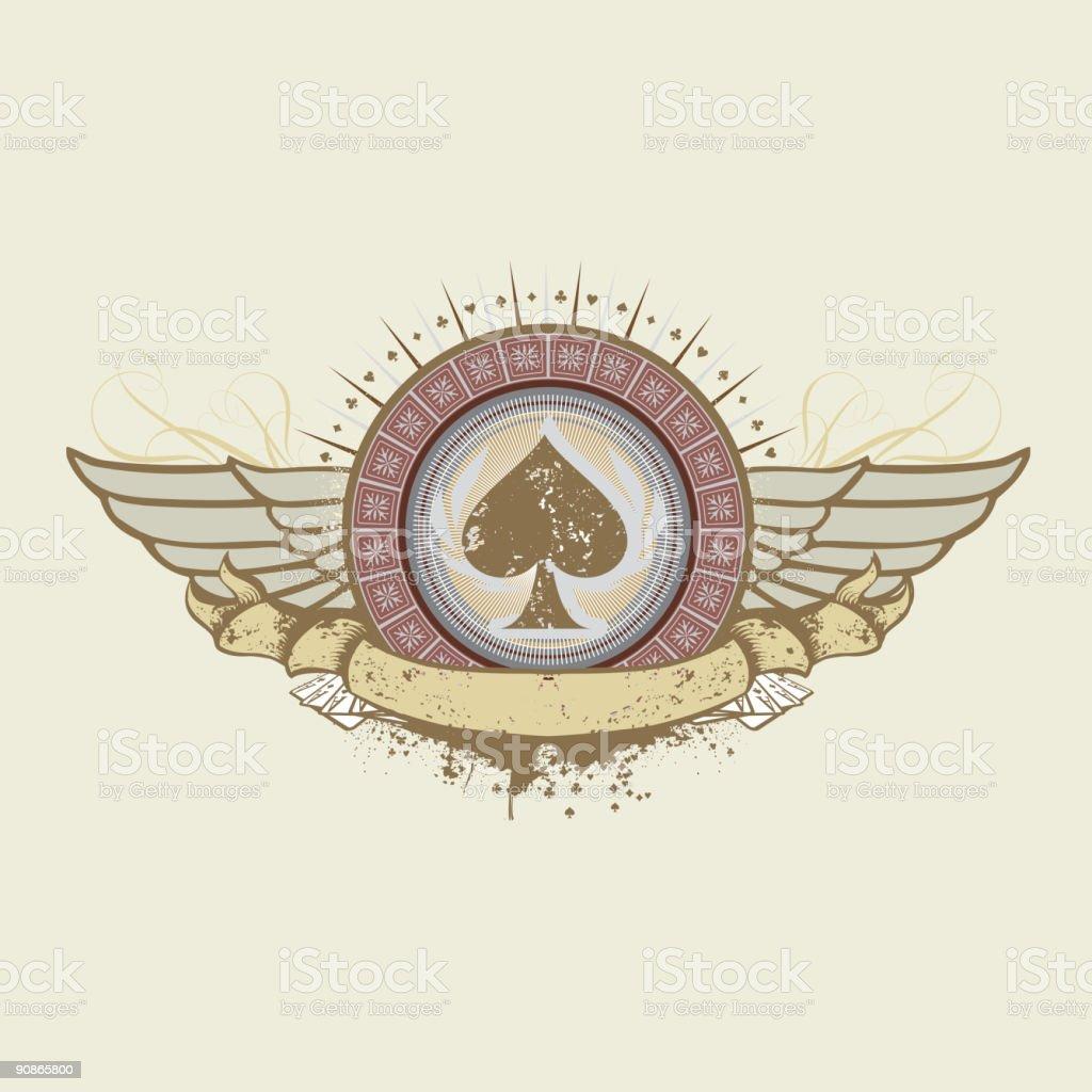 spades suit emblem royalty-free stock vector art