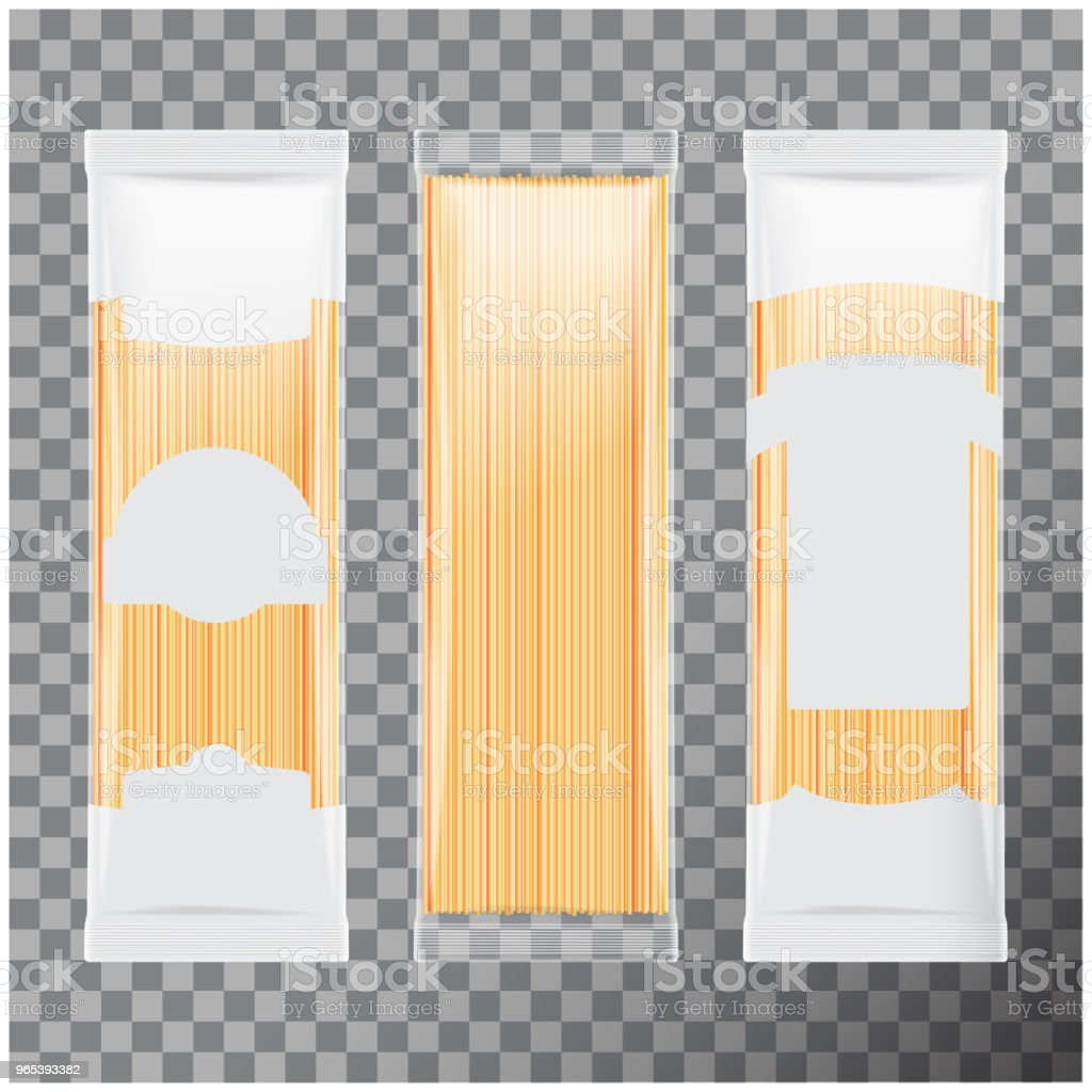 Spaghetti, capellini pasta package template, isolated on transparent background. Vector mock up illustration spaghetti capellini pasta package template isolated on transparent background vector mock up illustration - stockowe grafiki wektorowe i więcej obrazów bez ludzi royalty-free