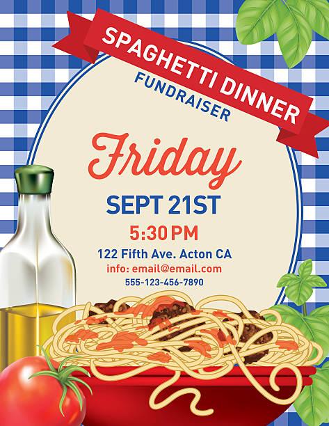 Royalty Free Spaghetti Dinner Clip Art Vector Images