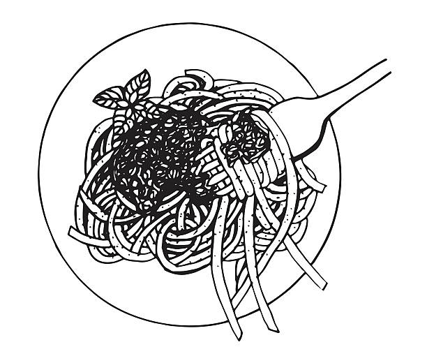 Best Spaghetti And Meatballs Illustrations, Royalty-Free ...
