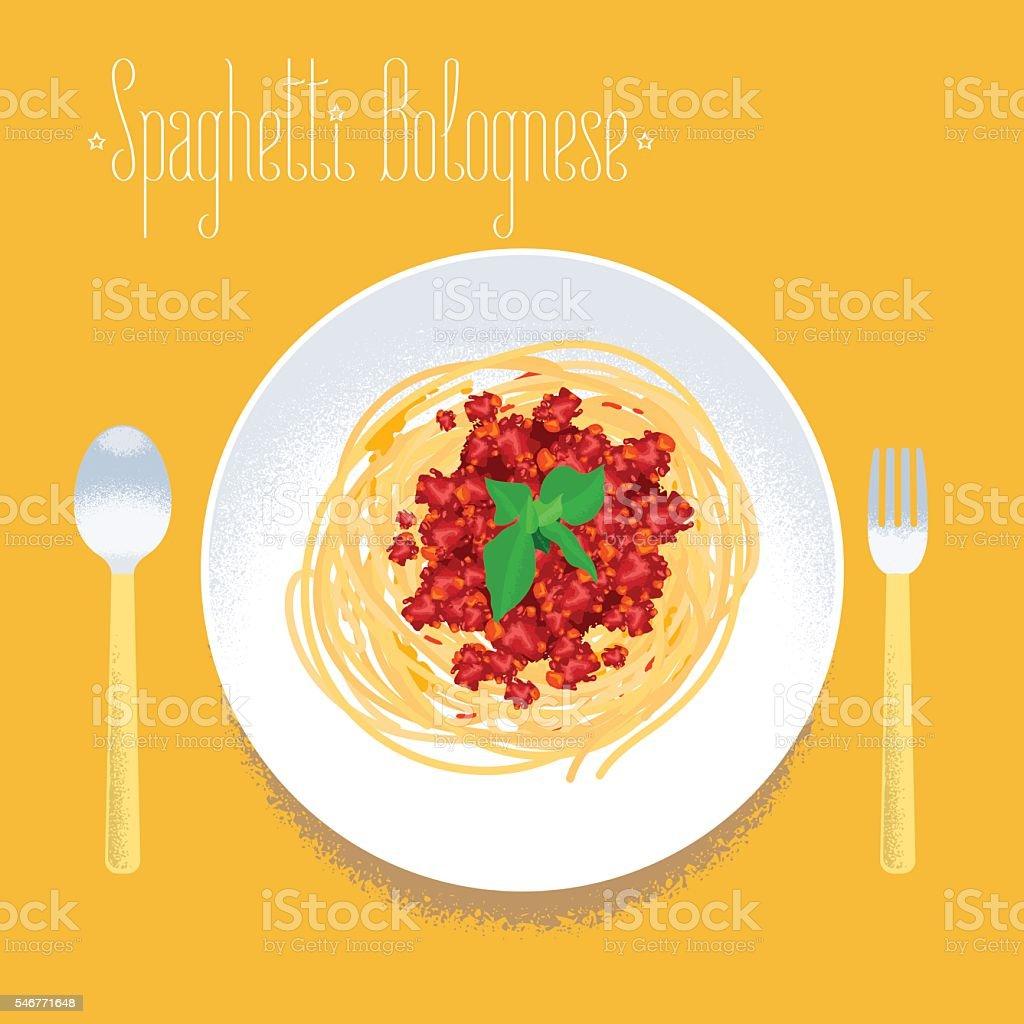 Spaghetti, Italian pasta vector design element vector art illustration