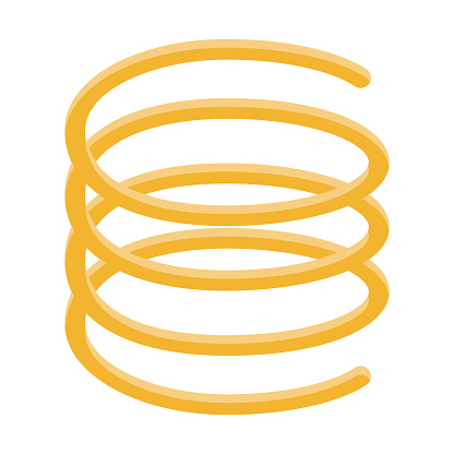 Spaghetti Pasta Icon on Transparent Background