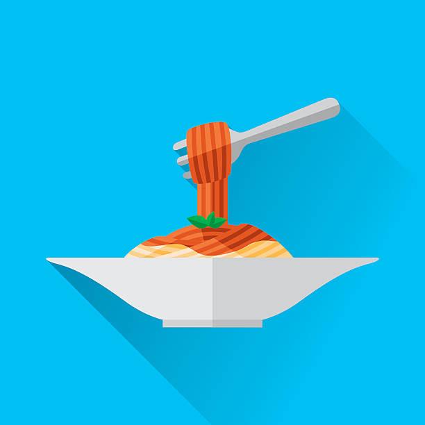 ilustraciones, imágenes clip art, dibujos animados e iconos de stock de espagueti  - comida casera