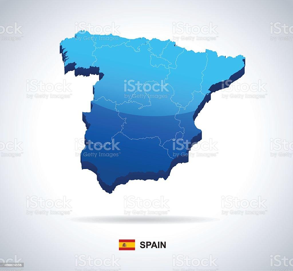 Spain - 3D illustration vector art illustration