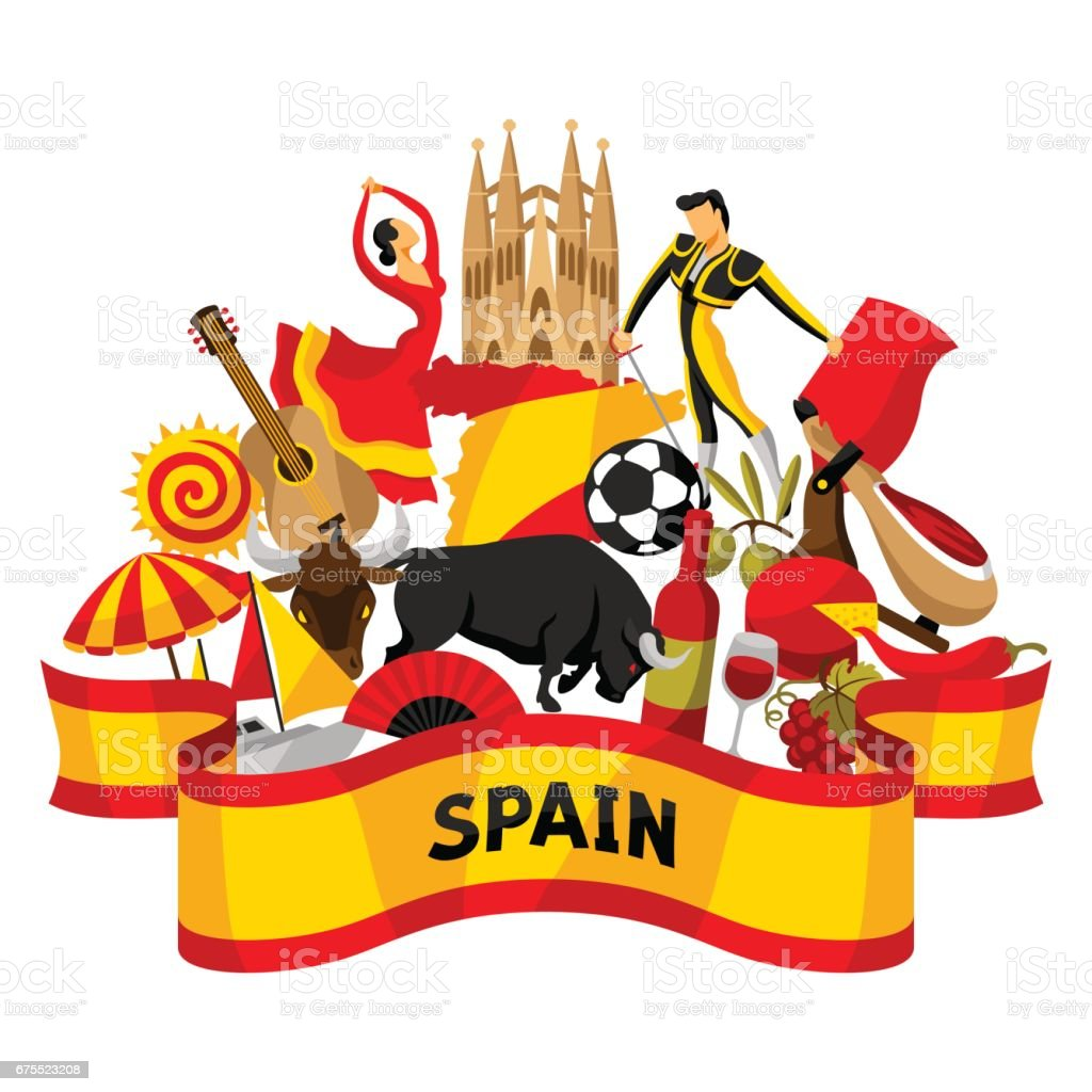 royalty free tour of spain clip art vector images illustrations rh istockphoto com spanish clip art graphics spanish clip art of galapagos