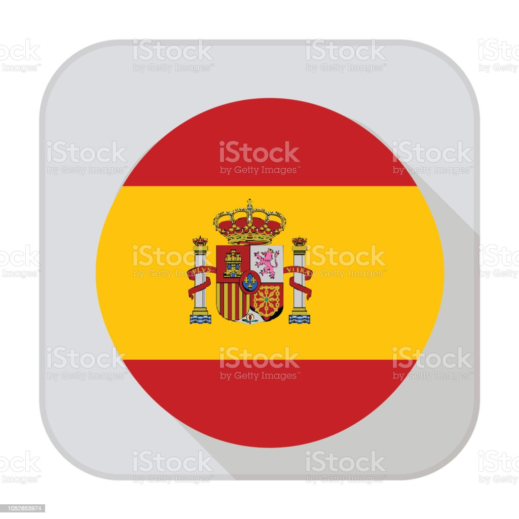 Spain Flag App vector art illustration