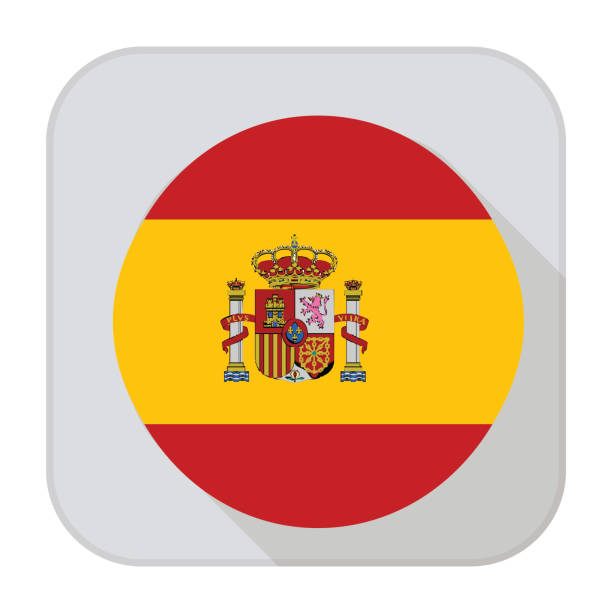 spain flag app - spanish flag stock illustrations, clip art, cartoons, & icons
