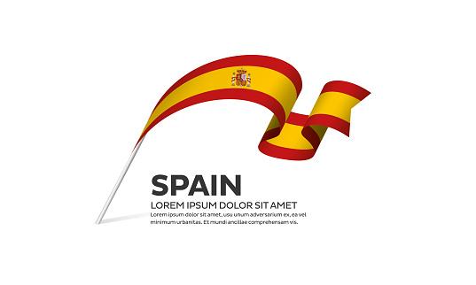 Spain flag background