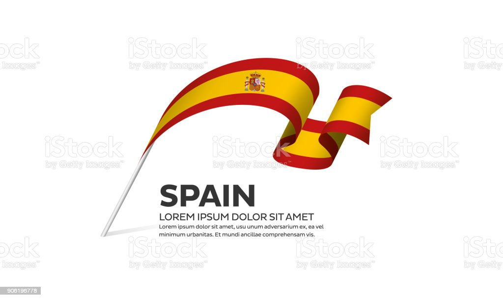 Spain flag background vector art illustration