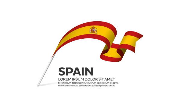 spain flag background - spanish flag stock illustrations, clip art, cartoons, & icons