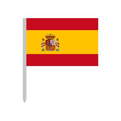 Spain - Flag Icon Vector Illustration - Pin