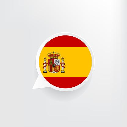 Spain Flag Speech Bubble