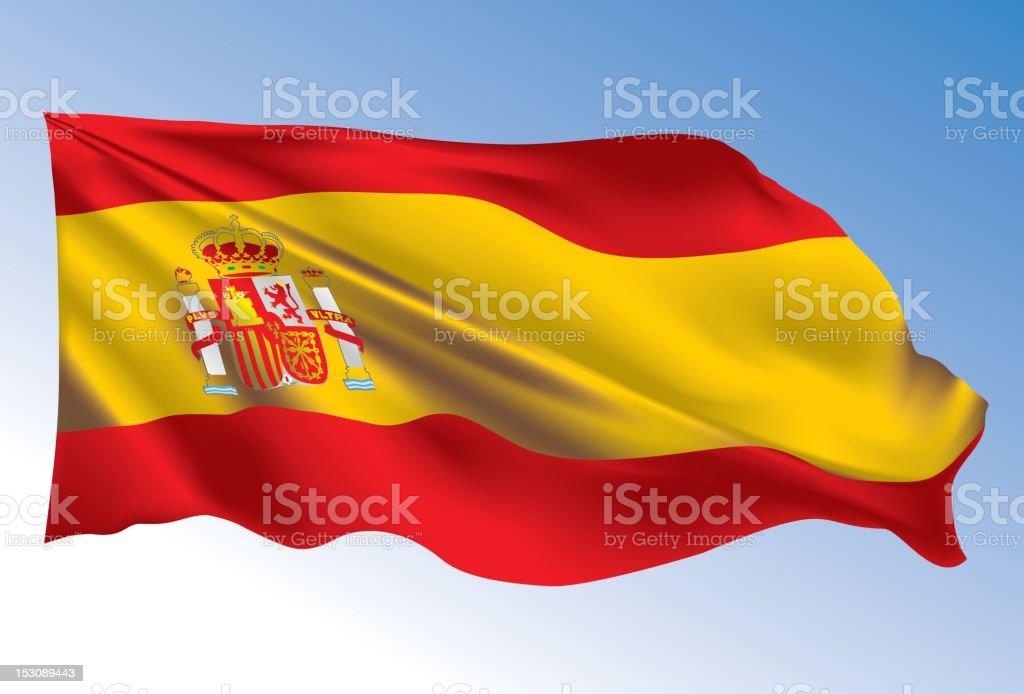 Spain Flag royalty-free stock vector art