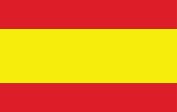 Drapeau espagnol  - Illustration vectorielle