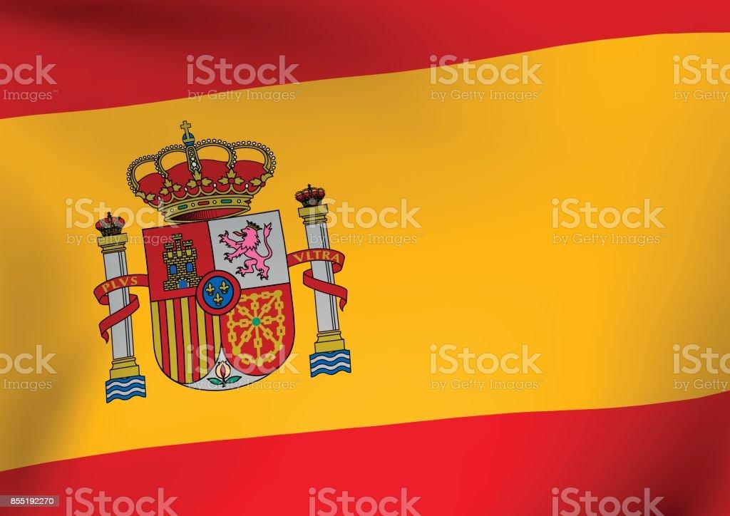 スペイン国旗 ベクターアートイラスト