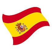 Spain - Flying Flag Vector Flat Icon