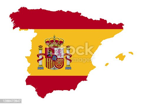 istock Spain map and flag 1288472847