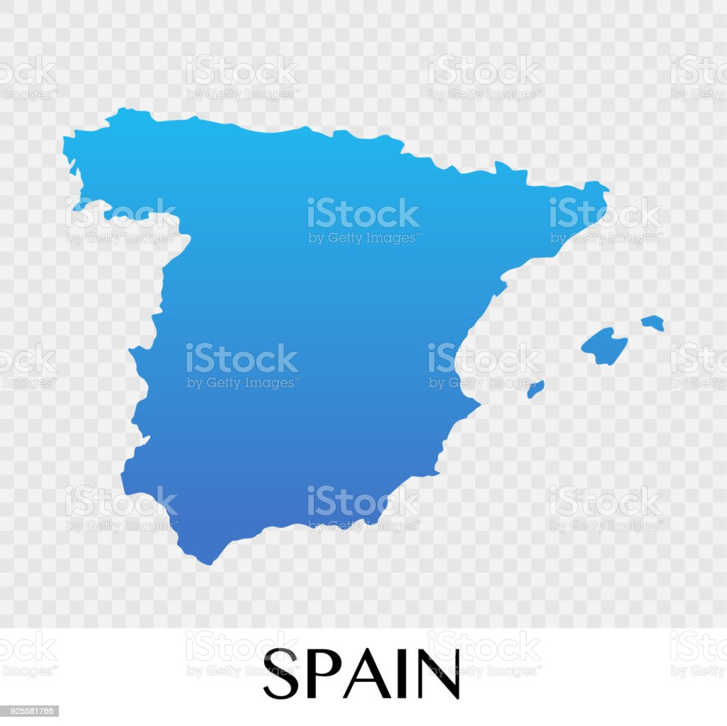 Spain On A Map Of Europe.Spain Map In Europe Continent Illustration Design Stock Vector Art