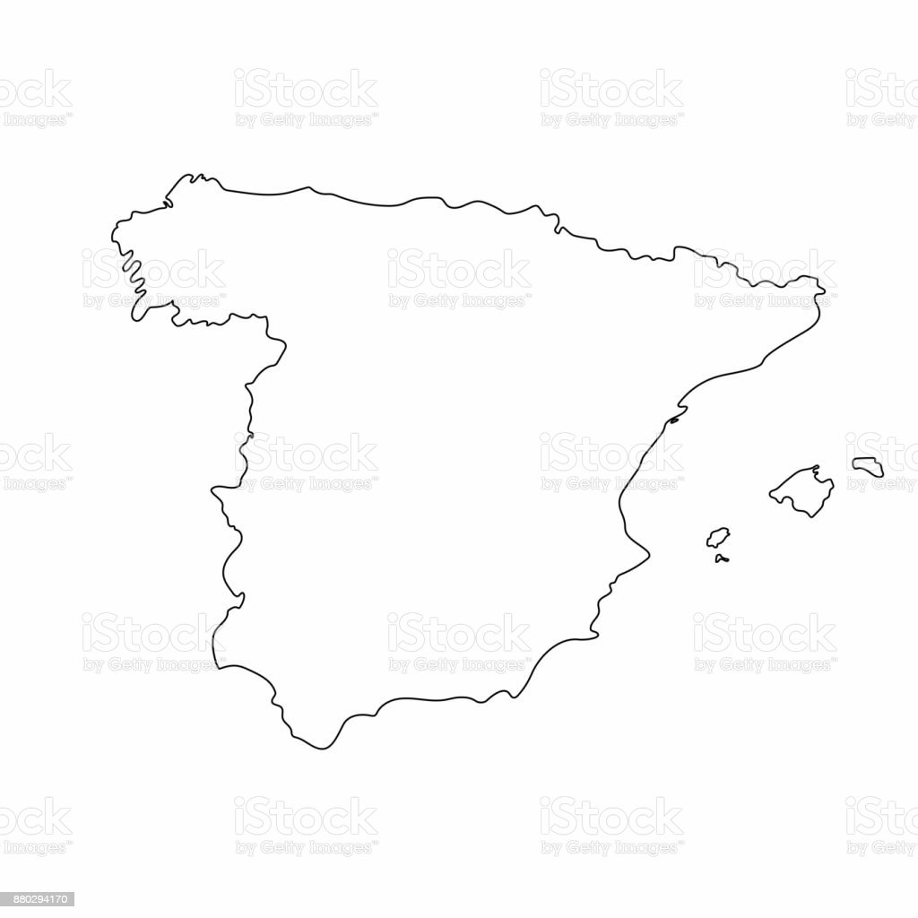 spain map outline graphic freehand drawing on white background India Country Outline spain map outline graphic freehand drawing on white background vector illustration royalty free spain